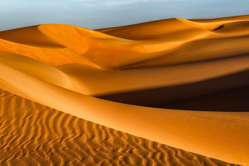 Cordon dunaire dans le Sahara, en Mauritanie