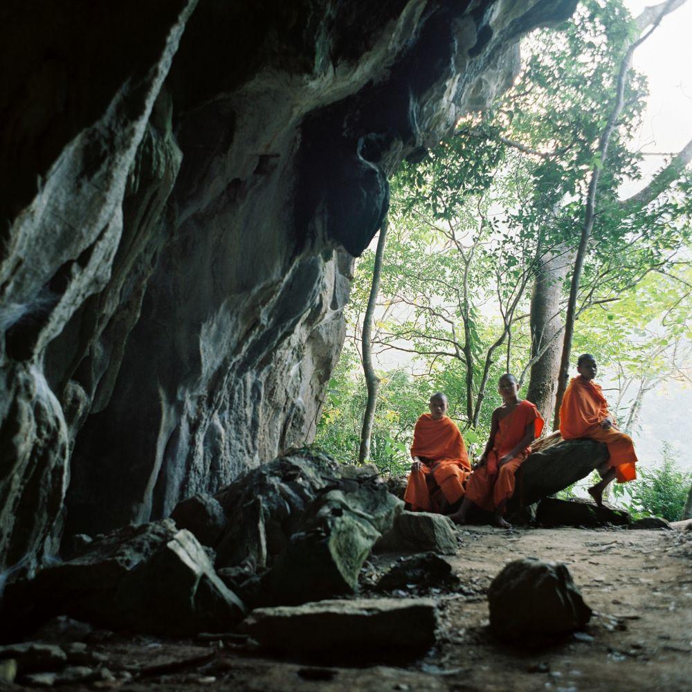 Moines au Laos lors d'un voyage Photo