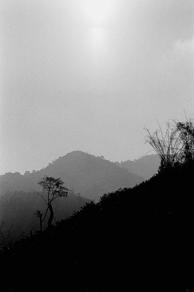Paysage en Noir et Blanc au Laos, voyage photographique