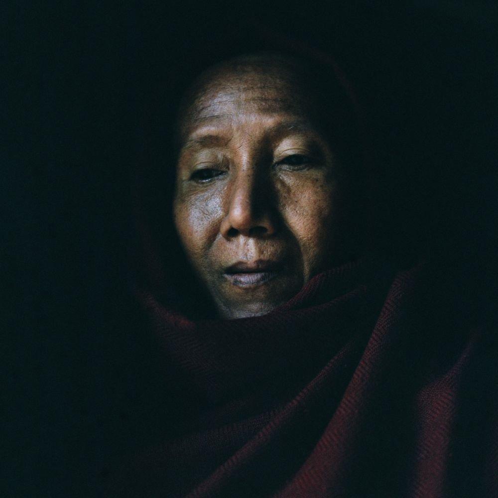 Portrait d'un homme en Birmanie
