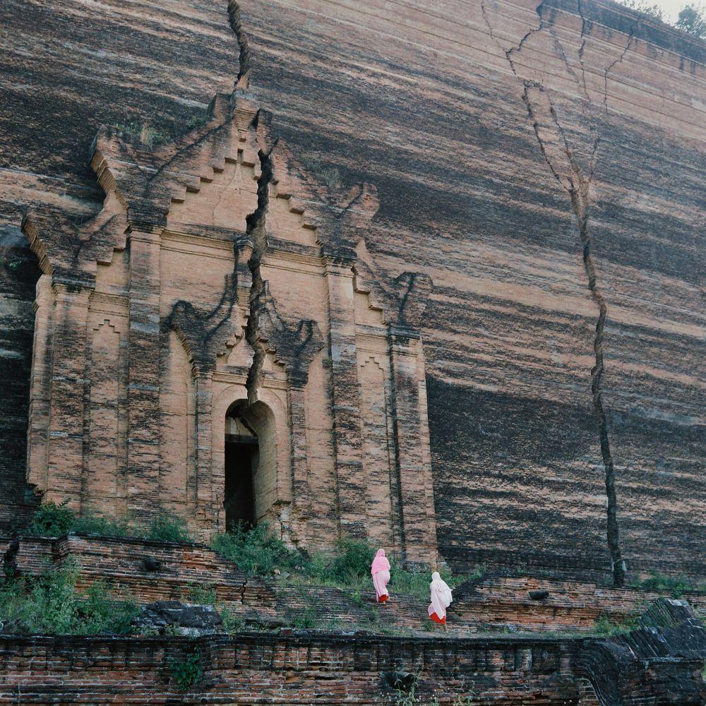 Monastère dans la falaise en Birmanie, voyage Photographique