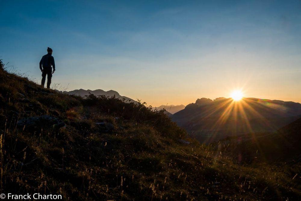 Lever de soleil sur le Dévoluy, trek