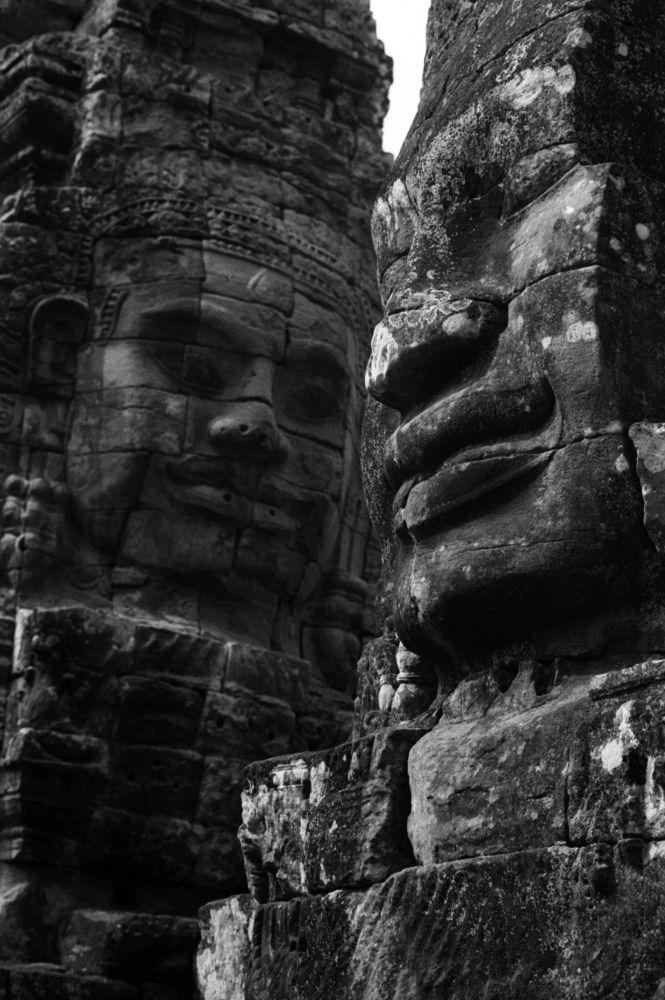 Figures du Bayon, Angkor Thom, Voyage Photo au Cambodge