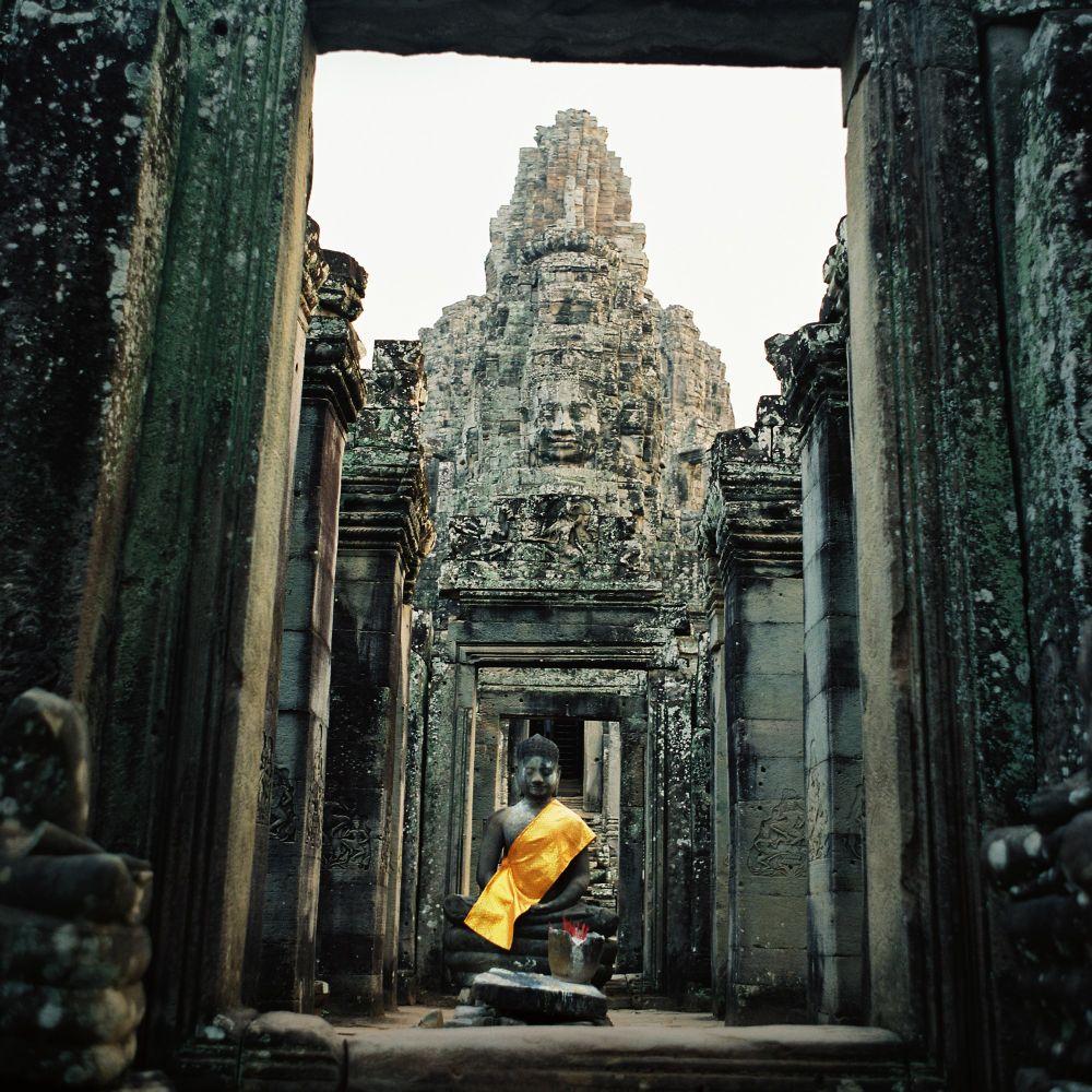 Statues de Bouddha, Angkor Thom, voyage photo au Cambodge