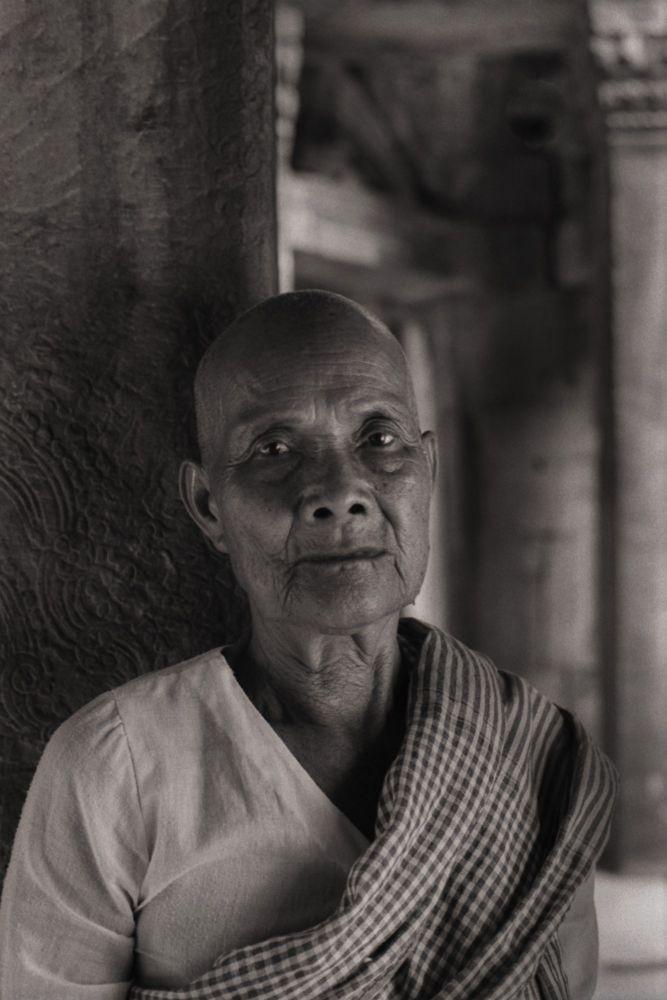 Portrait au Cambodge lors d'un voyage photographique