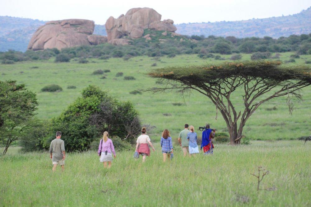 Safari à pied au Kenya, réserve privée