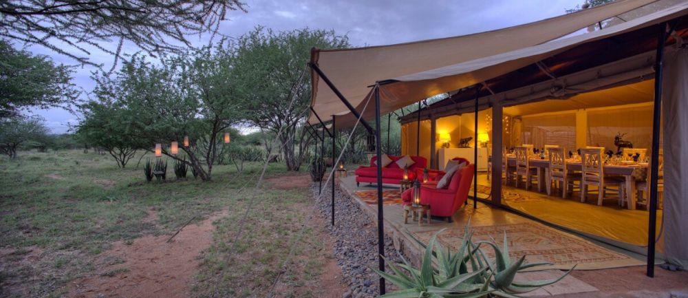 Camp de toile au Kenya, réserve privée