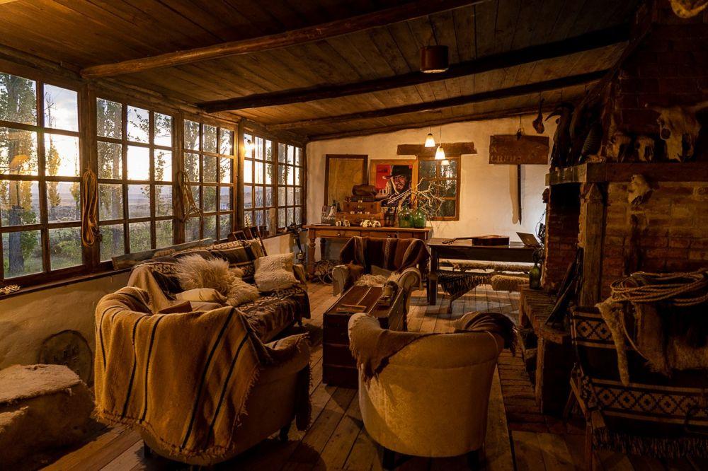 Intérieur d'une estancia traditionelle en Patagonie