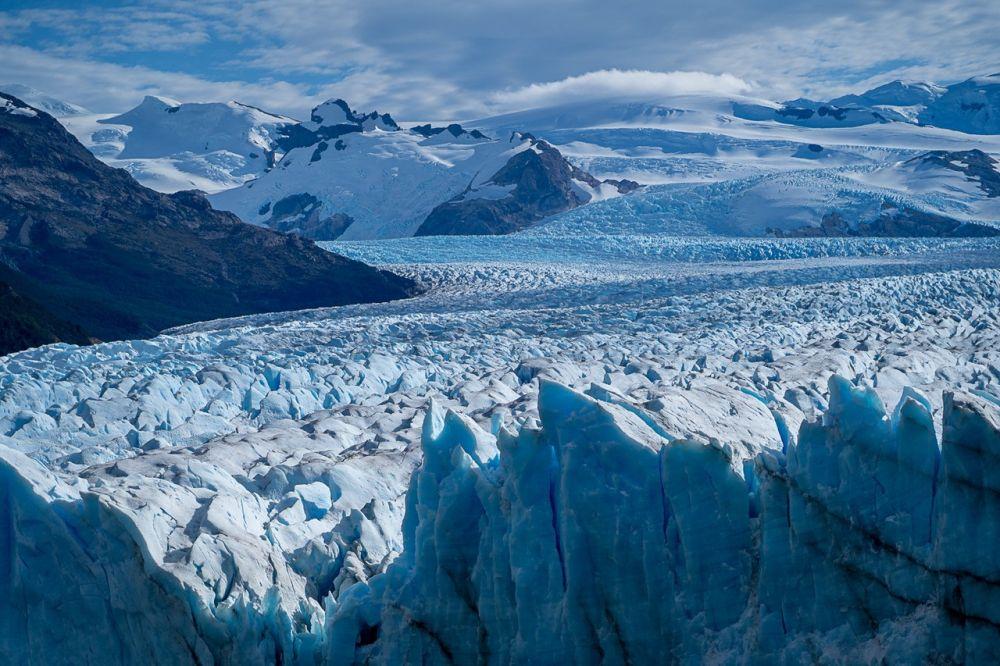 Détail du glacier Peiro Moreno en Patagonie