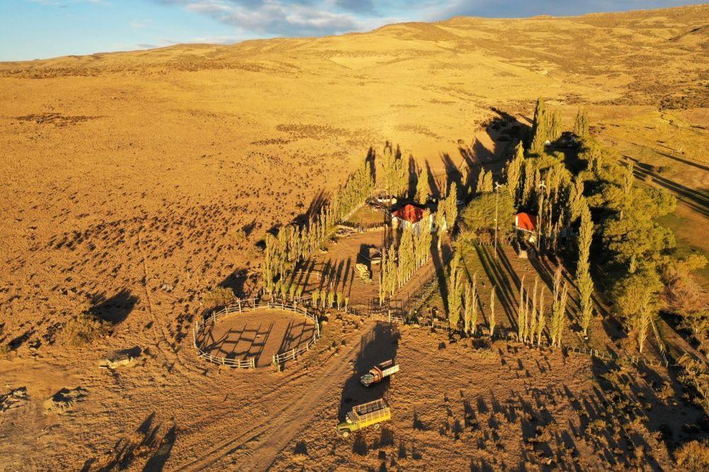 L'estancia secrète de Patagonie vue du ciel