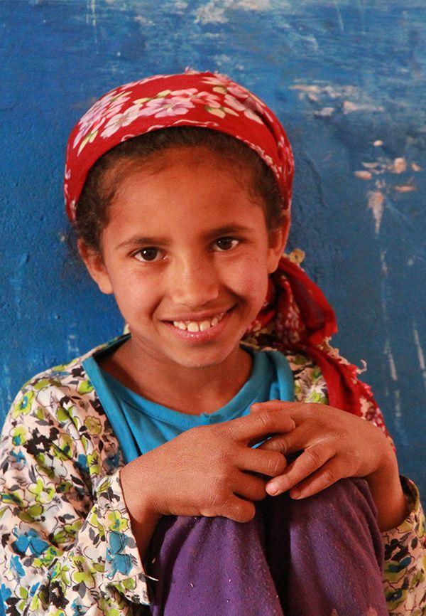 portrait d'une petit fille berbère