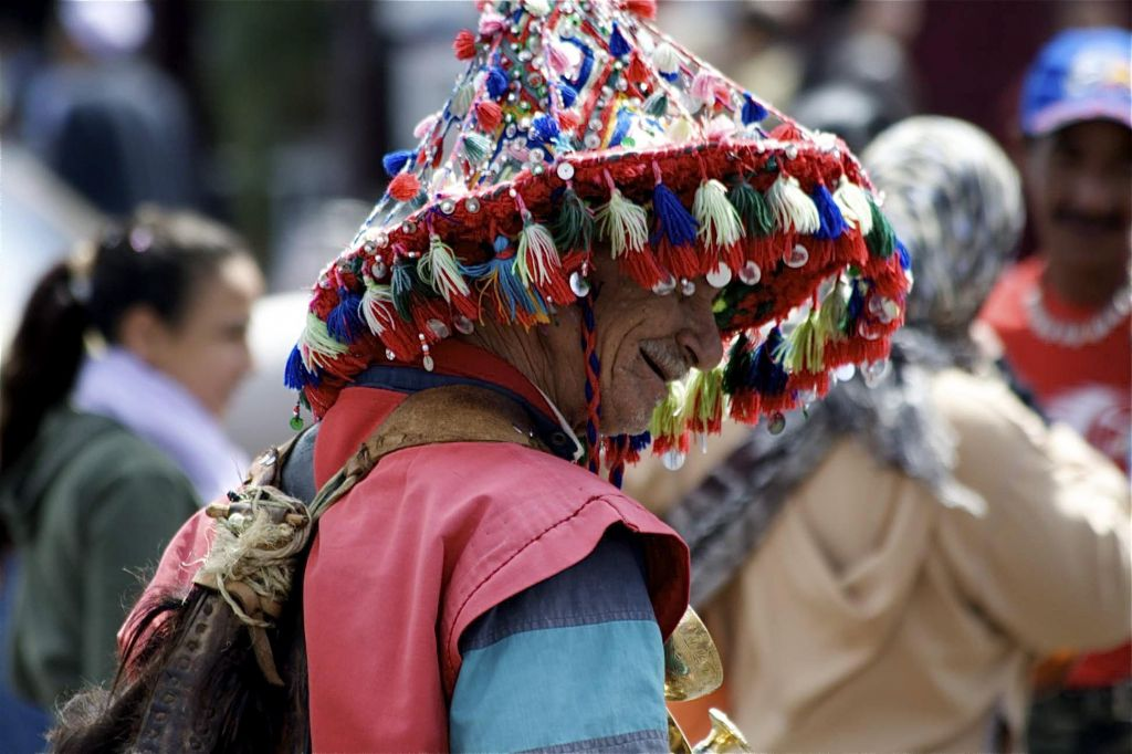 marocain avec un chapeau traditionnel