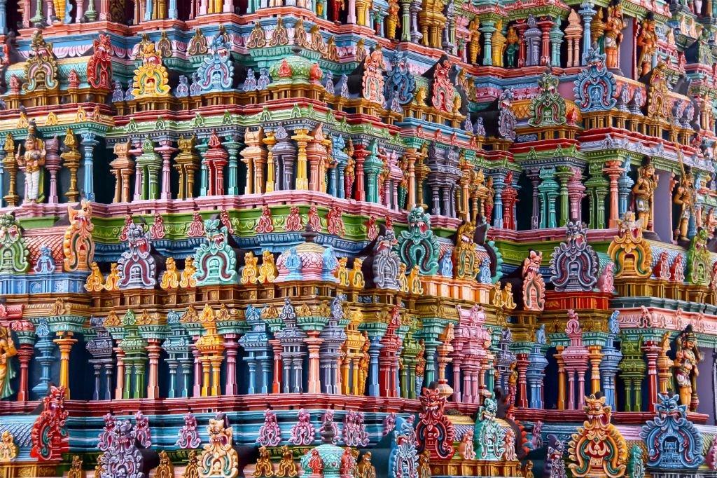détails de temple dravidien