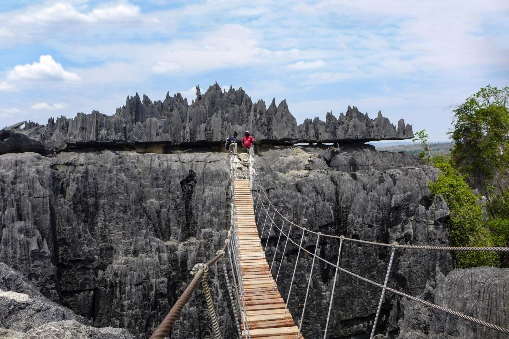 pont de singe aux Tsingy de Bemaraha