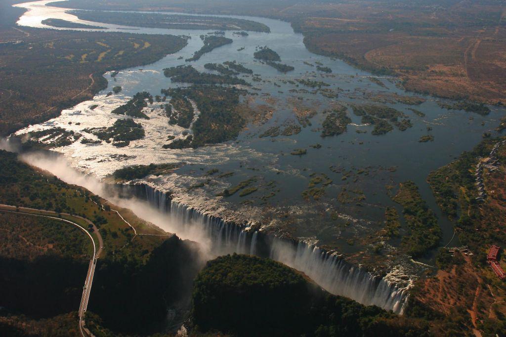 vue aérienne des chutes Victoria