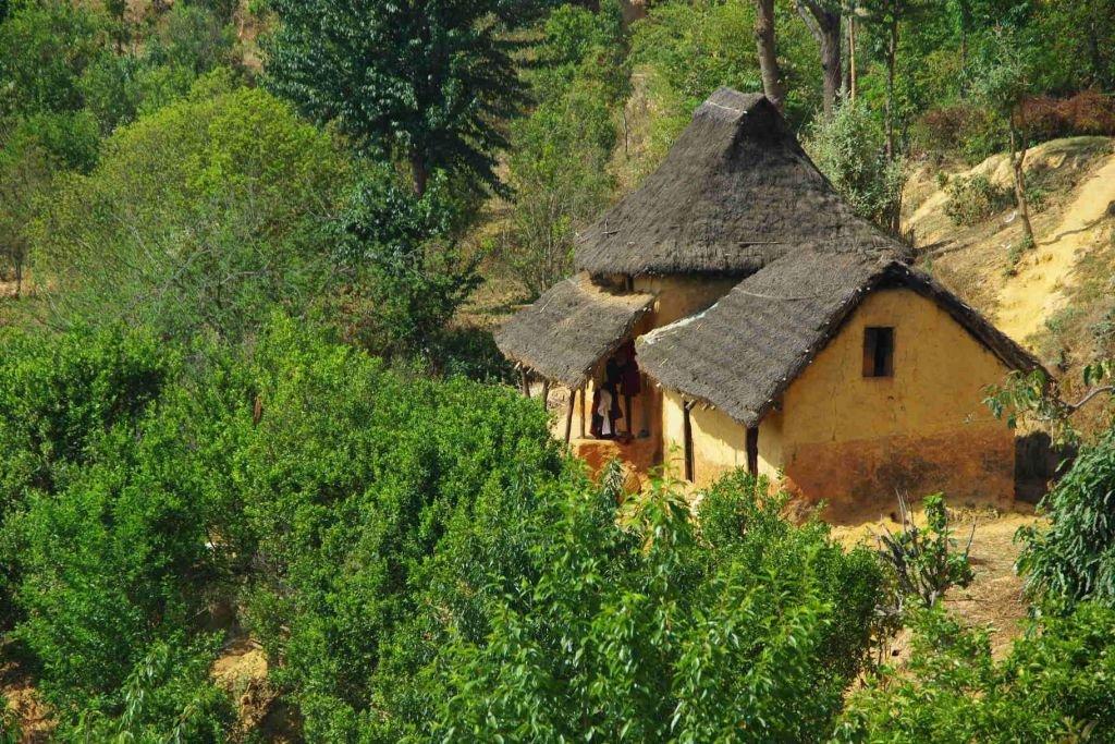 village typique népalais