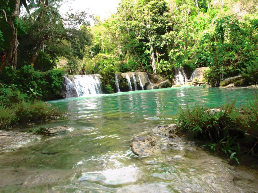 cascade en foret dans les Visayas