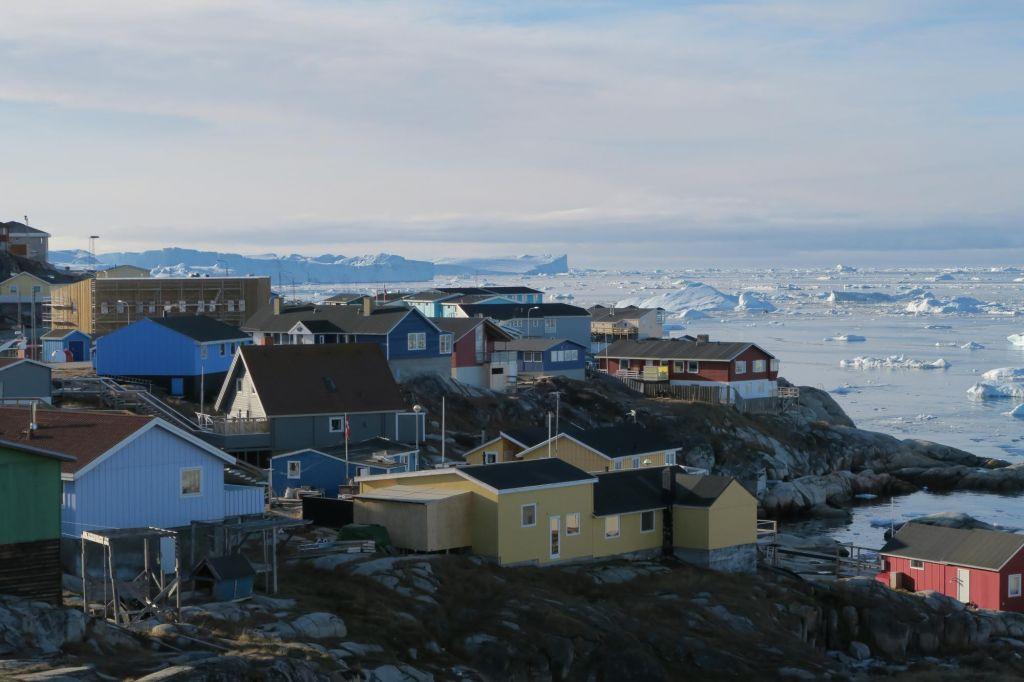 Ilulissat dans la baie de Disko au Groenland