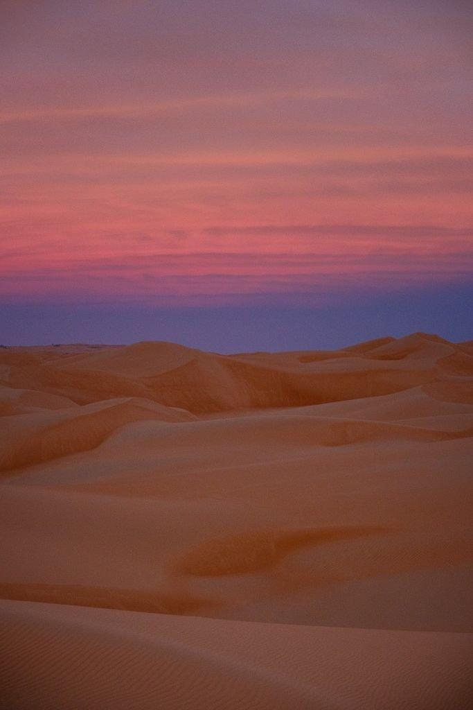 Lumière magique dans la Sahara de Mauritanie