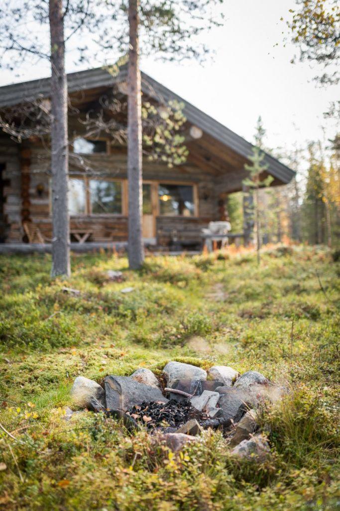 Notre chalet au fond des bois en Laponie, intimité en pleine nature